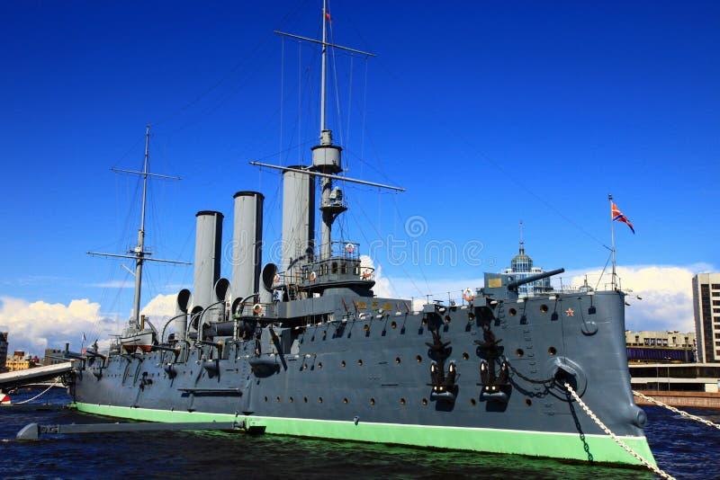 Rysk historisk krigsskepp arkivbilder