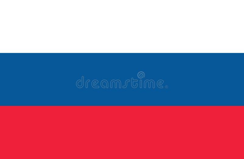 Rysk illustration för flaggavektorsymbol, plan design Officiell etikett av rysk federation också vektor för coreldrawillustration stock illustrationer
