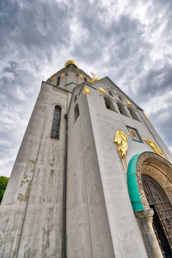Rysk ortodox kyrka i Leipzig, Tyskland royaltyfri foto