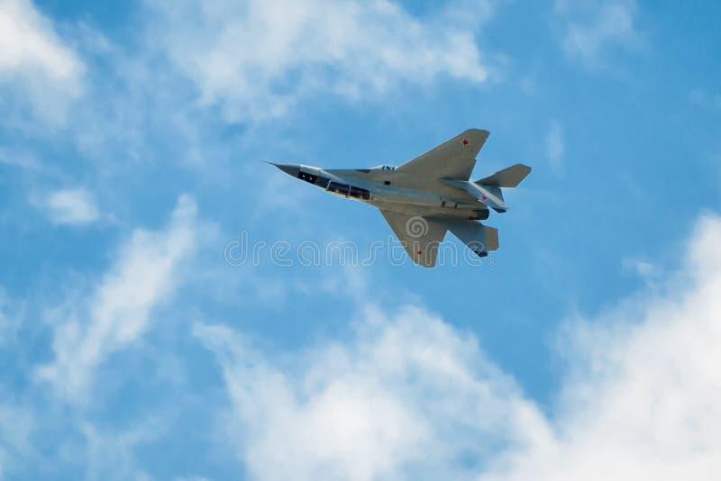Rysk slagkämpe Su-35 arkivbilder