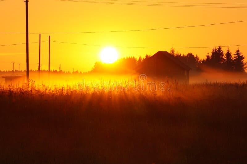 Rysk solnedgång royaltyfria foton