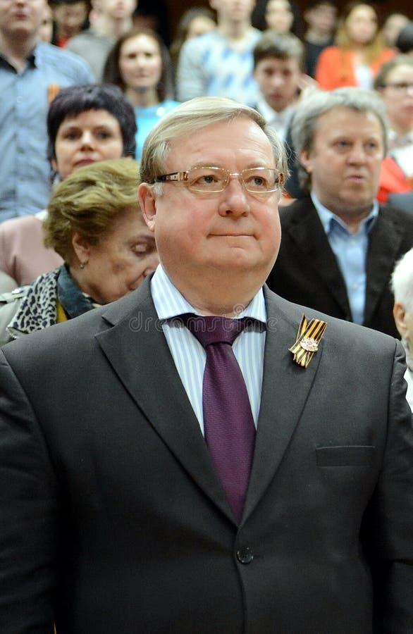 Rysk statsman Sergei Stepashin royaltyfri fotografi