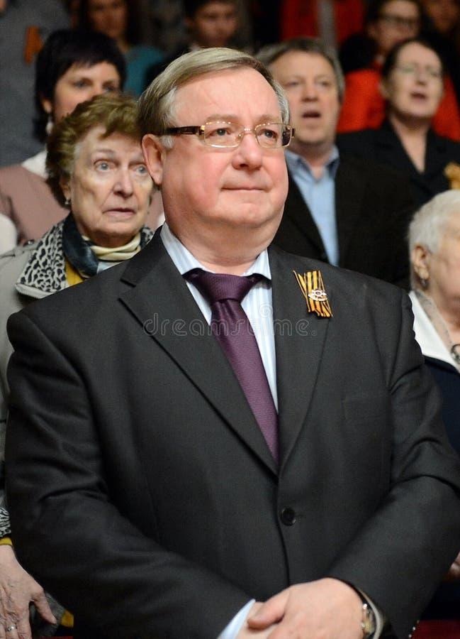 Rysk statsman Sergei Stepashin arkivfoton