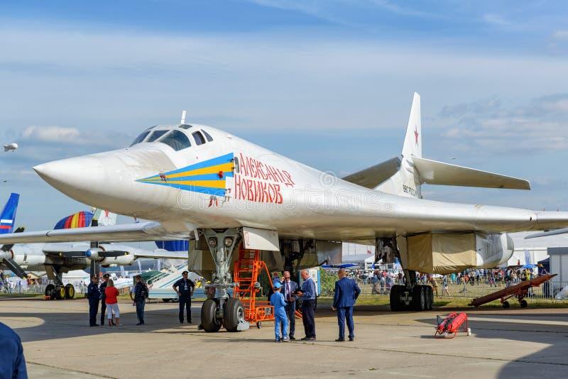 Rysk supersonisk strategisk bombplanTupolev Tu-160 arkivfoto