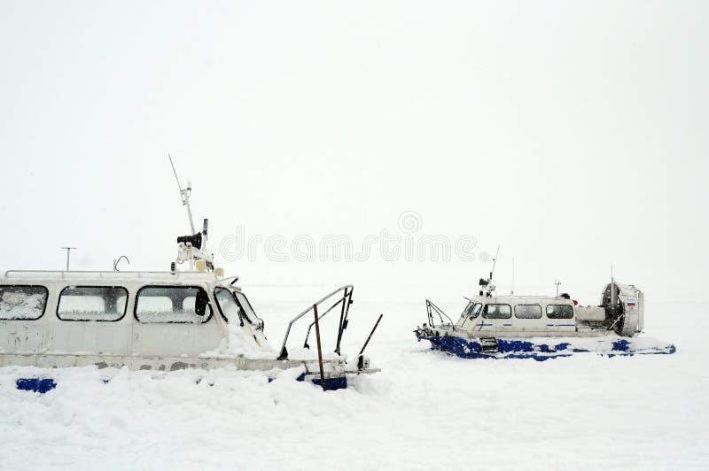 Rysk svävfarkost på snön royaltyfri bild