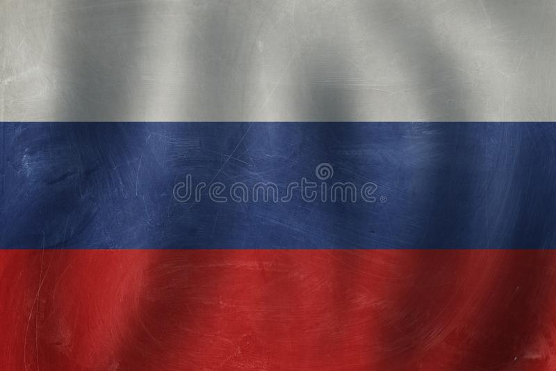 Ryska federationens flaggbakgrund Läs ryska royaltyfri fotografi