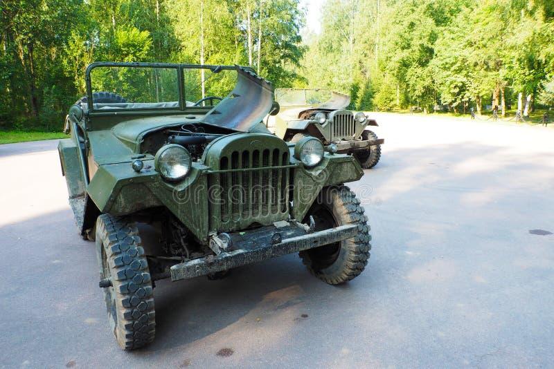 Ryska militära sällsynta SUV GAZ-64 av det andra världskriget royaltyfria bilder