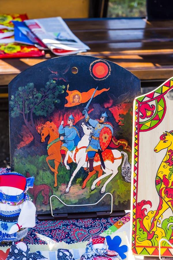 Ryska nationella teman i folklore arkivfoton