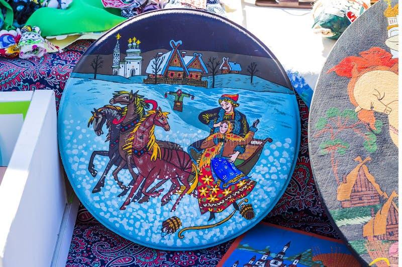 Ryska nationella teman i folklore royaltyfria bilder