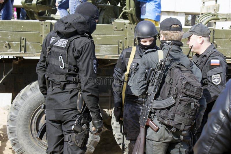 Ryska soldater arkivbild