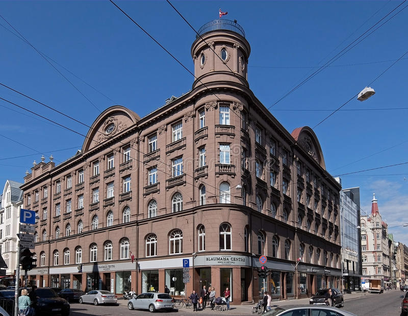 Ryski, Blaumanja 5a, neoclassicism i jugendstil, zdjęcia royalty free