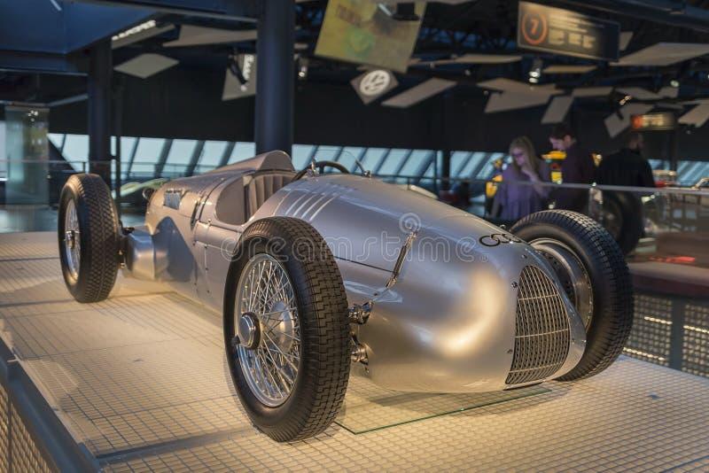 RYSKI, luty 18, 2019: 1936 Auto zjednoczeń V16 w Ryskim Motorowym muzeum zdjęcia stock