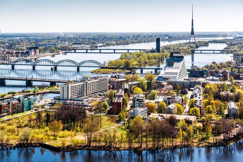 Ryski miasto. Latvia obraz royalty free