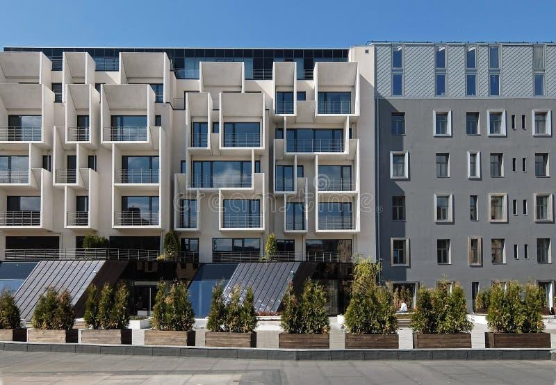 Ryski, nowy sąsiedztwo w centrum miasteczko zdjęcie stock