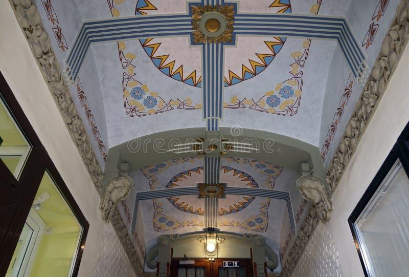Ryski, uliczny Blaumanja 11-13, historyczni budynki, wystrój obraz royalty free