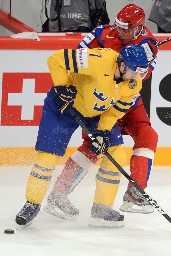 Ryskt ishockeylag royaltyfri foto