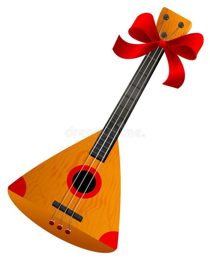 Ryskt retro nationellt traditionellt musikinstrument för balalajka Den Stringed musikalen instrumenterar royaltyfri illustrationer