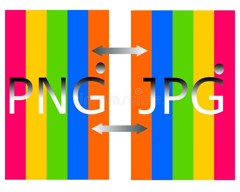 Rysować png w jpg kartoteki logo royalty ilustracja