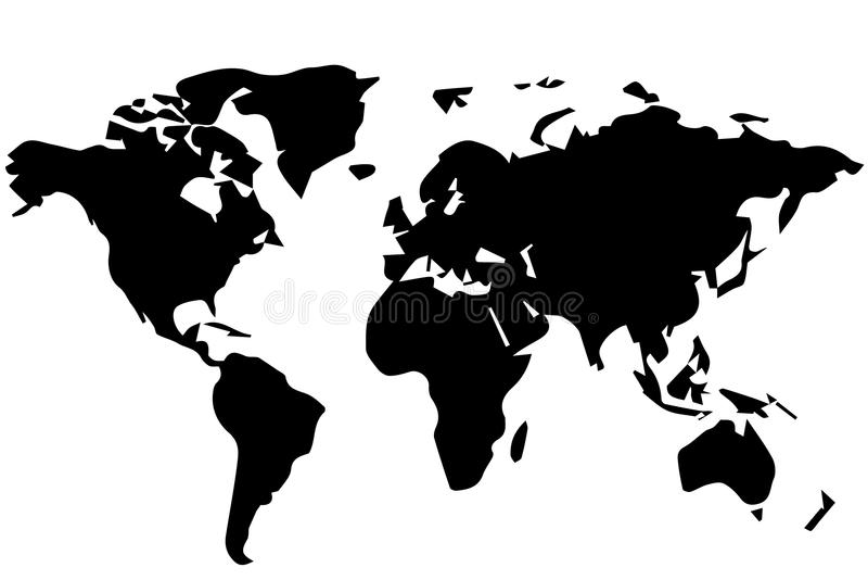 Rysować światowa mapa ilustracja wektor