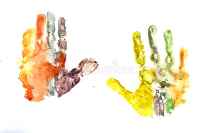 rysować children& x27; s palmy fotografia royalty free