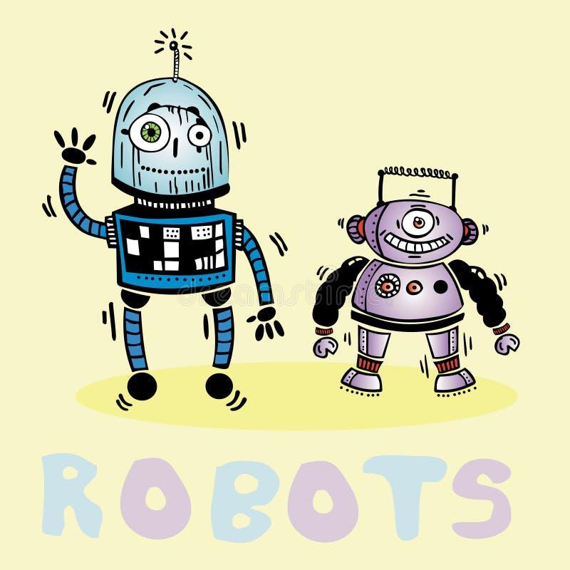 Rysować dwa homoseksualistów robota wektor fotografia stock