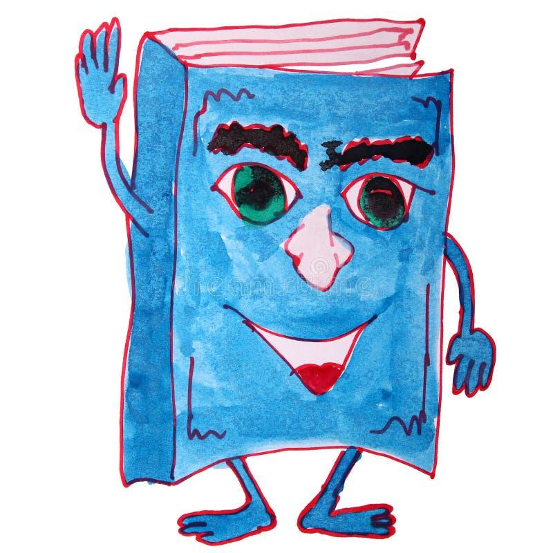 Rysować dzieciak kreskówki akwareli tutorial biel royalty ilustracja