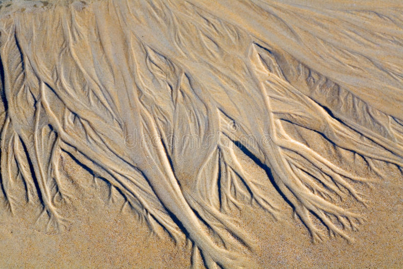 Rysować na piasku robić strumieniem zdjęcie royalty free