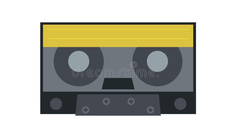 Rysować stara audio kasety ikona słuchać muzyka ilustracja wektor
