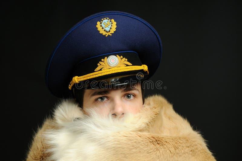 ryss för lagpälstjänsteman royaltyfria foton