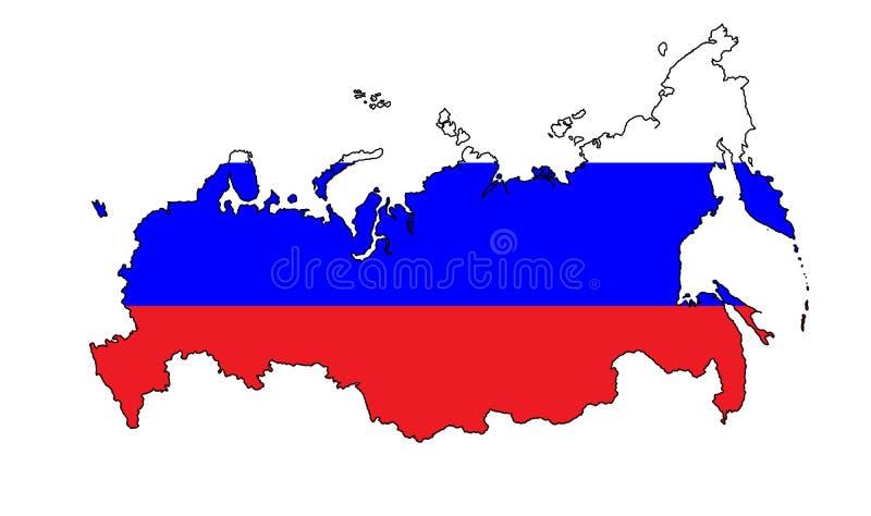 Ryssland översikt royaltyfri illustrationer