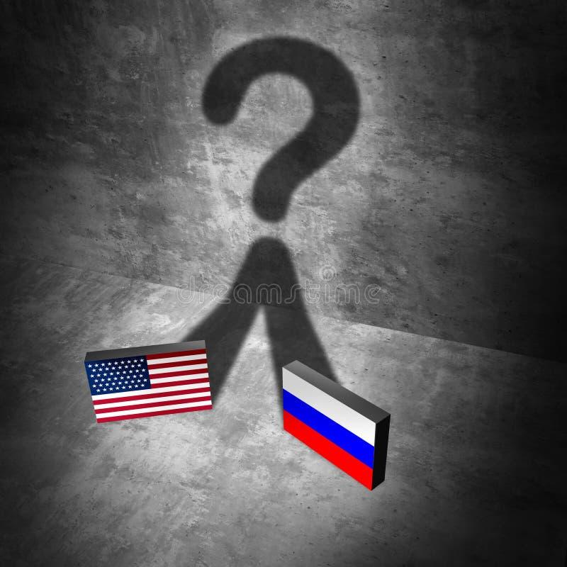 Ryssland amerikansk nyheternafråga royaltyfri illustrationer