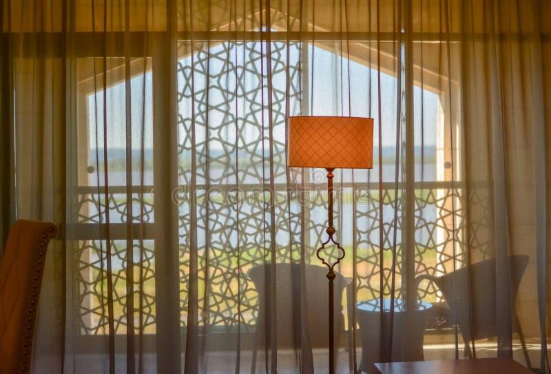 Ryssland Bolgar - Juni 08, 2019 Kol Gali Resort Spa: Lyxigt hotellrum royaltyfri foto