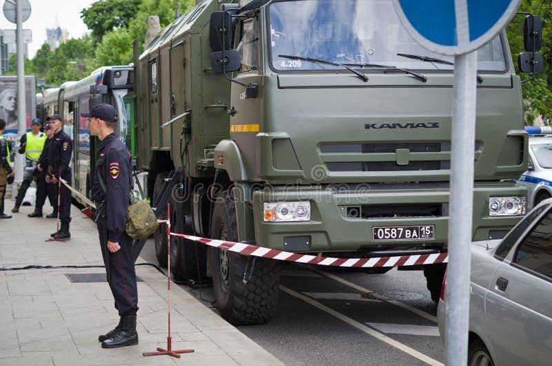 Ryssland dag i Moskva 2017 arkivfoto