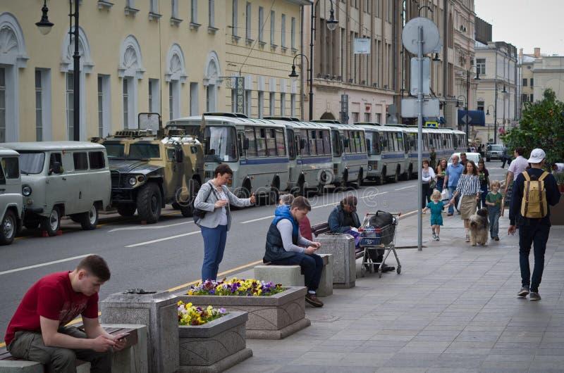 Ryssland dag i Moskva 2017 royaltyfri bild