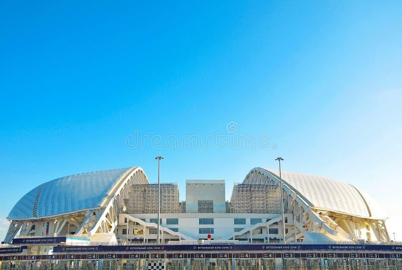 Ryssland - den Oktober 2 2018 Sochi OS:en parkerar Stadionarena Fisht Sochi arkivbilder