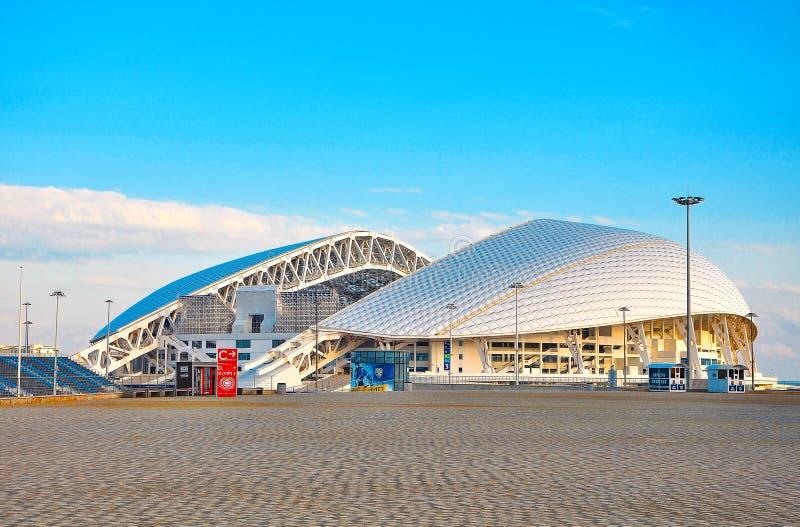 Ryssland - den Oktober 2 2018 Sochi OS:en parkerar Stadionarena Fisht Sochi royaltyfri bild