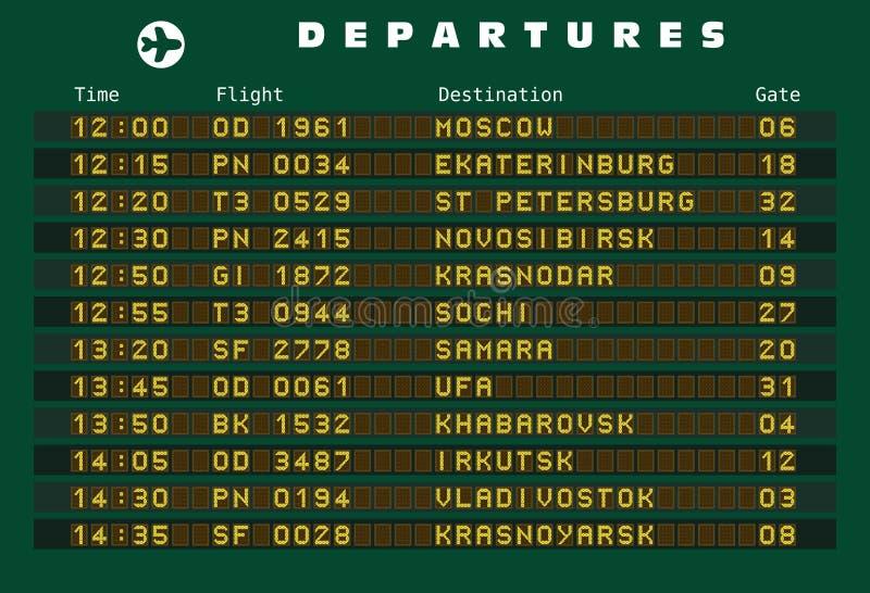 Ryssland destinationer stock illustrationer