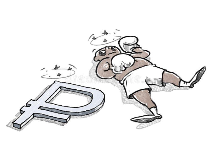 Ryssland ekonomisk knockout vektor illustrationer
