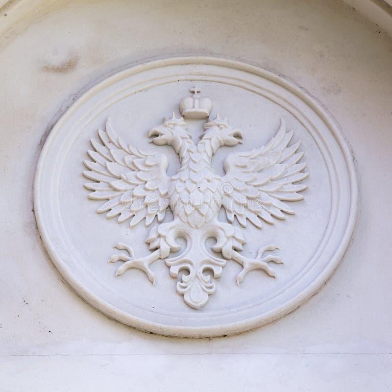 Ryssland emblem av denhövdade örnen royaltyfria bilder