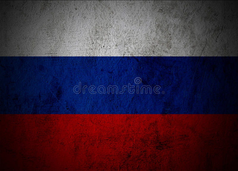 Ryssland flagga. fotografering för bildbyråer