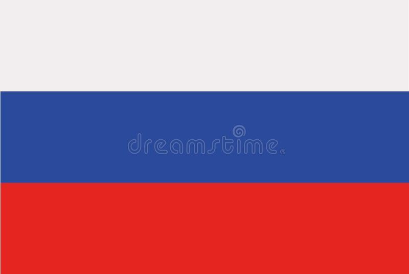 Ryssland flaggavektor vektor illustrationer