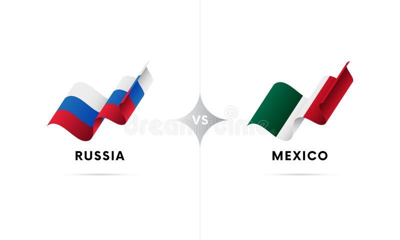 Ryssland kontra Mexico Fotboll också vektor för coreldrawillustration vektor illustrationer