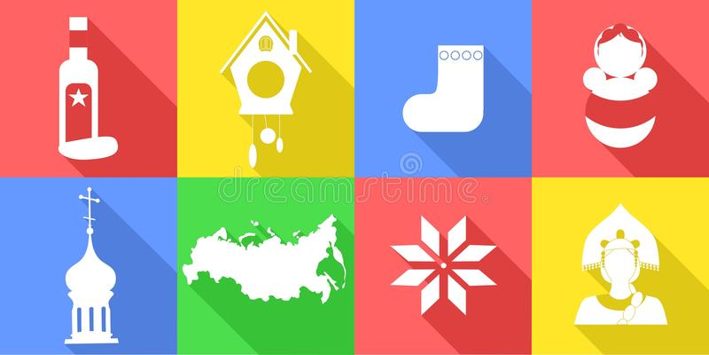 Ryssland lägenhetdesign vektor illustrationer