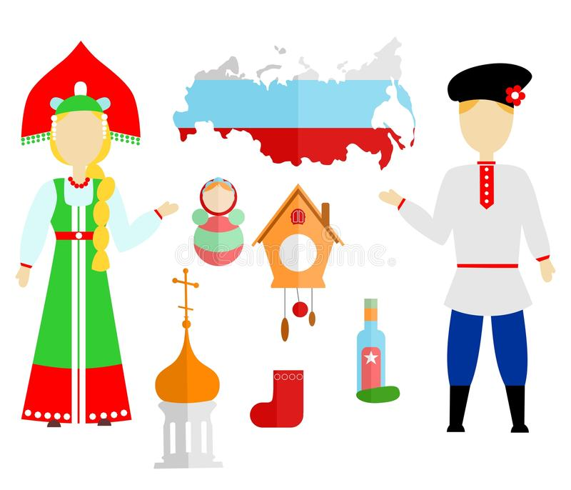 Ryssland lägenhetdsign royaltyfri illustrationer