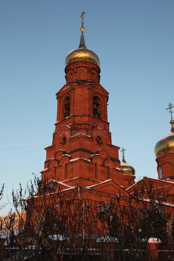 Ryssland Mordovia republik, kyrkan av St Nicholas i Saransk royaltyfria bilder