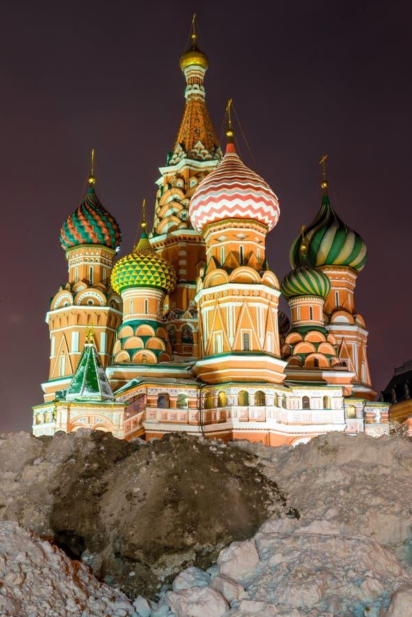 Ryssland Moskva, domkyrka för St-basilika` s på röd fyrkant royaltyfri foto