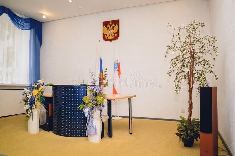 Ryssland Saratov, registreringskontoret arkivbilder