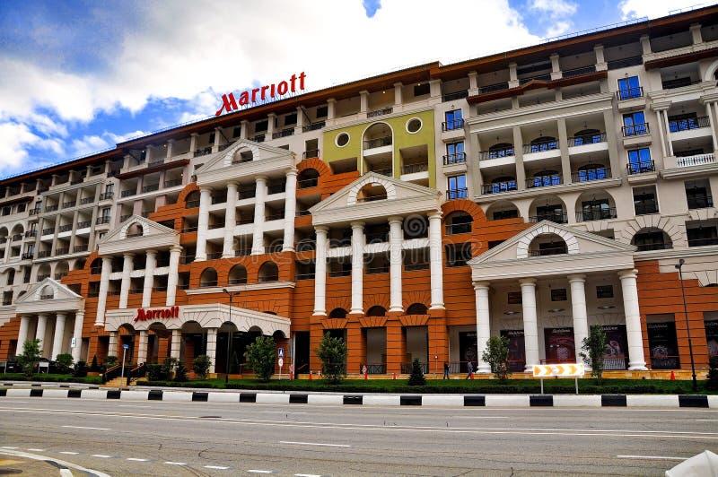 Ryssland Sochi - Oktober 11 högvärdigt hotell 2017-Marriott i semesterorten Gorky Gorod arkivbilder