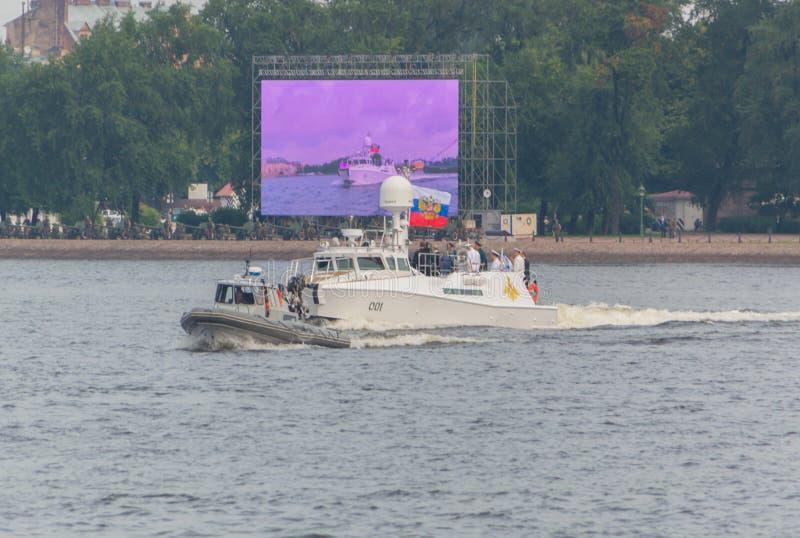 Ryssland St Petersburg, Juli 30, 2017: President Putin 001 på arkivfoton