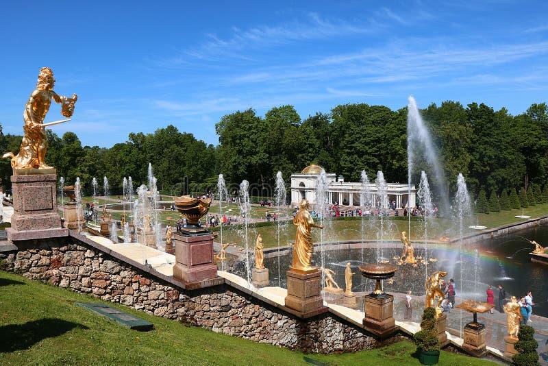 Ryssland St Petersburg, Peterhof, Juni 8, 2018 arkivbild